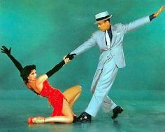 "Cyd Charisse  & Fred Astaire in ""The Band Wagon""."