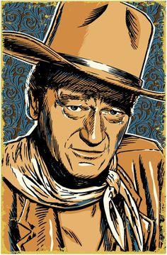 John Wayne Pop Art Print 13x19 by RedRobotCreative on Etsy, $25.00