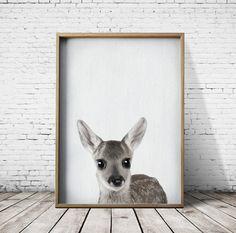 Fawn Print Baby Deer Print  Nursey Prints  Nursery by PrintEclipse