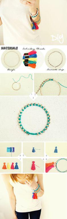 Tassel bracelet tutorial