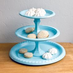 Pin for Later: 36 Dollar-Store DIY Projects to Try Out Party Tray Wow your guests with this tiered party tray, created from dollar store candle sticks and plastic plates. Source: Sarah Lipoff