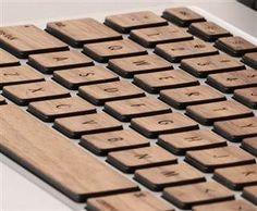 Knock on wood as you type with laser-cut laptop keys (Photo: Lazerwood)