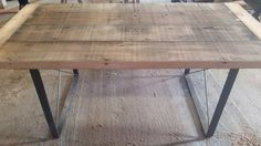 promising - Rustic Industrial Reclaimed Barn Wood Table by WoodenWhaleWorkshop // can add extensions for $200