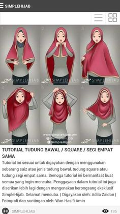 Square hijab tutorial Omg yeayyy found the tutorial. I've been trying many ways to wear square hijab zz Square Hijab Tutorial, Simple Hijab Tutorial, Hijab Style Tutorial, Islamic Fashion, Muslim Fashion, Hijab Fashion, Hijab Dress, Hijab Outfit, Mode Turban