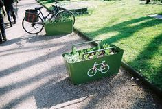 bike parking and planter in one