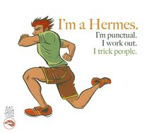 I'm a Hermes Greek God Art Print by LipsticKissPress on Etsy, $10.00