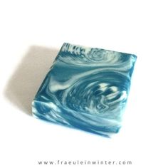 """""""Stormy Sea"""".  Handmade soap by Miss Winter."""
