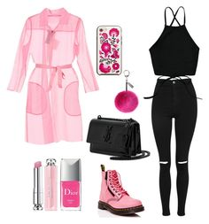 """pink"" by salmayaot on Polyvore featuring Topshop, MaxMara, Dr. Martens, Yves Saint Laurent, Helen Moore, Kate Spade and Christian Dior"
