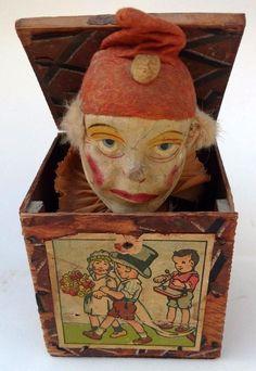 Creepy Vintage, Vintage Clown, Creepy Toys, Creepy Clown, Vintage Toys 1960s, Retro Toys, Jack In The Box, Antique Toys, Rare Antique