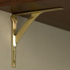 Classic Brass Shelf Bracket - Shelf Brackets - Hardware $29