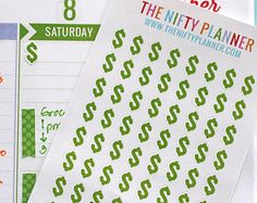 Payday - 64 Stickers - 1 Sheet   Payday - Money   Stickers for your daily planner, calendar, agenda