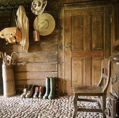 Charming rustic dwelling on Saaremaa Island, Estonia-love the smooth pebble floor