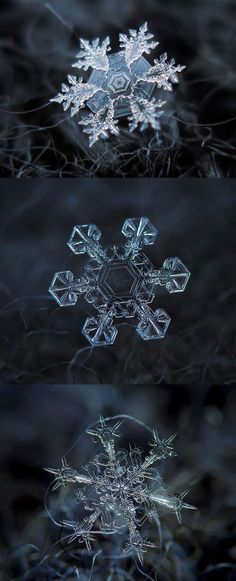 Macro images of snow
