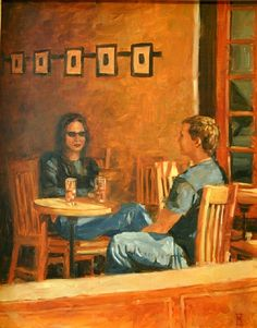 "ICED TEA, BOZEMAN by Mollie Erkenbrack Oil ~ 20"" x 16"" (SOLD)"