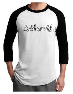 TooLoud Bridesmaid Design - Diamonds Adult Raglan Shirt