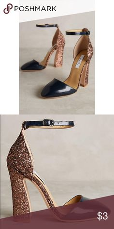 IN SEARCH OF NOT FOR SALE Vanessa Tao Heels in Navy and rose gold. Looking for in 9.5-10 Anthropologie Shoes Heels