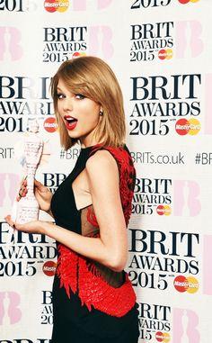 Taylor Swift at the Brit Awards 2015!