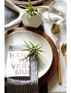 A Modern Organic Thanksgiving Table ~ Craft and Couture