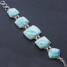 "8.00"" Larimar Gemstone 925 Sterling Silver Bracelet Jewelry  Pcbb-101 Larimar Jewelry, Sterling Silver Bracelets, Turquoise Bracelet, Jewelery, Jewelry Design, Bling, Inspire, Gemstones, Bags"