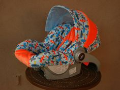 Baby Car Seat cover infant carseat cover boy car seat by isewjo, $72.00