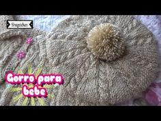 Gorro para bebe FACIL DE TEJER - YouTube Baby Booties Knitting Pattern, Crochet Baby Hat Patterns, Baby Hats Knitting, Crochet Baby Hats, Knitted Hats, Knit Crochet, Knitting Videos, Knitting Stitches, Diy Crafts Hacks