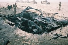 Burned out Iraqi Tank Destroyed in place