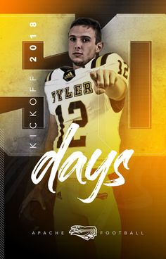 Football social media graphics for Tyler Junior College; Junior College, Social Media Graphics, Football, Day, Movie Posters, Movies, Design, Soccer, Film Poster