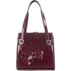 Pre-owned Dolce & Gabbana Patent Leather Handle Bag (360 AUD) ❤ liked on Polyvore featuring bags, handbags, burgundy, burgundy purse, handbag purse, dolce gabbana handbags, purple patent leather handbag and purple purse