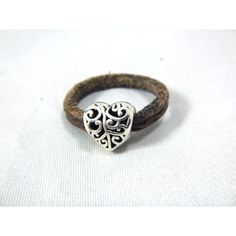 Thin leather ring Heart, leather ring for women, leather embossed ring ($13) ❤ liked on Polyvore featuring jewelry, rings, leather ring, carved rings, beaded rings, heart jewelry and heart shaped jewelry