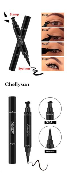 Beauty Essentials Strong-Willed Eyeliner Double Head Durable Waterproof Black Wing Seal Eyeliner Eye Makeup Beauty Pencil Tool Maquillage Skilful Manufacture