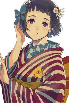 きものLOVE Anime Girl Kimono, Arm Anatomy, Samurai, Grafiti, Anime Life, Japanese Outfits, Kawaii Anime Girl, Yukata, Fantasy Girl