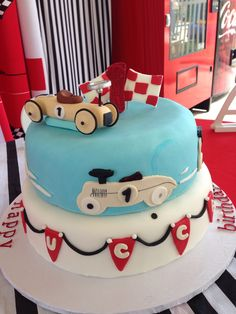 Vintage Race Car Cake Flickr Photo Sharing Baby Boy S