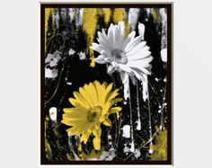 yellow white and gray art - Google Search Grey Art, Gray, Bathroom Yellow, Art Google, Dandelion, Google Search, Painting, Grey, Dandelions