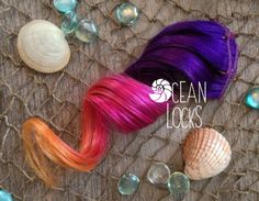 Sunset color Hair Extensions Hair extensions by OceanLocksHair