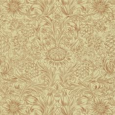 Morris sunflower etch paper ivory/ camomile