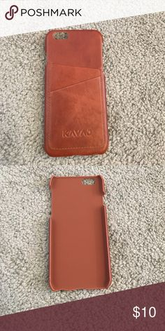 iPhone 6/6s wallet case leather Brand New! Never used, but lost packaging. Snaps phone into place. 2 Card Slots. Shock Absorbent. Very convenient!! kavaj Accessories Phone Cases