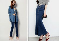 Stylish Denims – wanaabeehere Duster Coat, Elegant, Denim, Stylish, Pants, Jackets, Fashion, Classy, Trousers