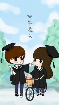 Class of 2021 Love Cartoon Couple, Chibi Couple, Cute Love Cartoons, Cute Couple Art, Anime Love Couple, Cute Anime Couples, Cute Love Images, Cute Love Stories, Cute Cartoon Characters