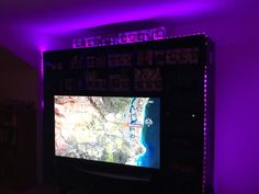 Video Game Shelf. Video Game Room. Video Game Console Cabinet With LED  Lights.