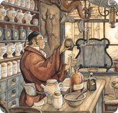 Anon Pieck. Apotheek Anton Pieck, Fairy Village, Realistic Paintings, Dutch Painters, Dutch Artists, Watercolor Illustration, Poster Prints, Drawings, Artwork
