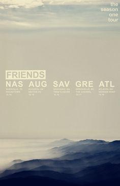 Friends - Season One Tour // Designspiration