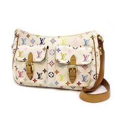 Louis Vuitton Lodge GM Monogram Multicolore Shoulder bags White Canvas M40051