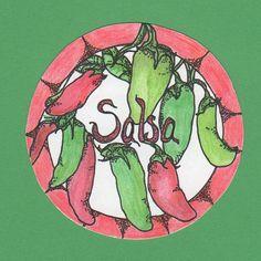 Salsa canning label https://www.etsy.com/listing/112199864/mason-jar-labels-hand-drawn-illustration?ref=shop_home_active