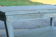 Slate and Gold Coffee Table   via Primitive & Proper #paint #refinishing #milkpaint