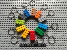 NEW-LEGO-3001-Brick-2x4-Keyring-Keychain-Choose-your-color-custom-made