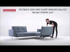 SPLITBACK SOFA ARM Dess.525 Bensæt Chrom