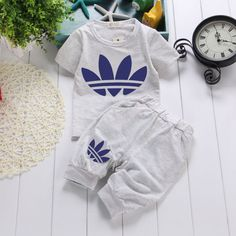 2016 Summer Newborn Baby Boys clothes Set Girls Clothing suit T-shirt Tops+Pants #NEWBrandAS #Casual