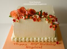 80th Birthday Ideas For Her | 80th Birthday Cake with Gum Paste Flowers