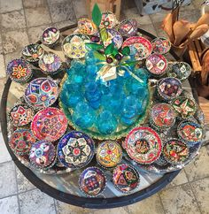 Fabulous Mediterranean treasures collection: Murano glass from Italy, Phoenician glass from Lebanon, hand-painted ceramics from Turkey, Olive wood from Tunisia...at Odyssey Imports