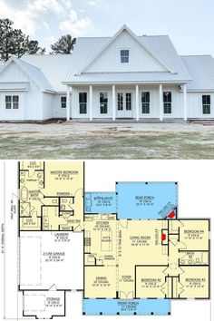 Metal Awning, Gambrel Roof, Contemporary Cottage, Florida Style, Floor Layout, Beach Bungalows, Ranch House Plans, Bedroom Modern, Small House Plans